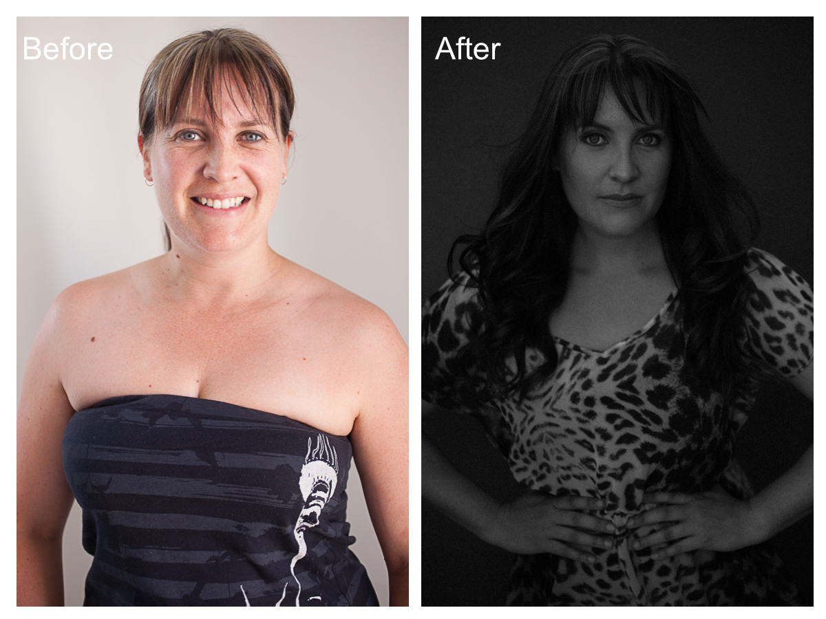 Jeanine Before & After Makeover Portrait Shoot Cape Town