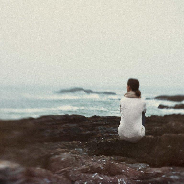 Solitude.Fine Art photography by Abigail K Photography.  Gazing over the ocean