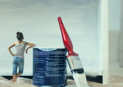 paint and paintbrush. surreal photography for fine art personal photo project of Abigail K Photography