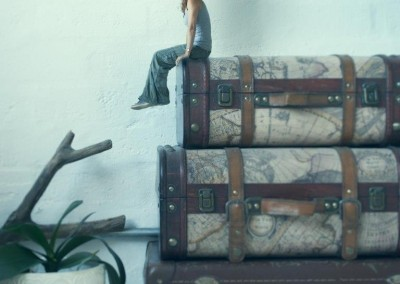 suitcases and travel for personal fine art photo project by Abigail K Photography