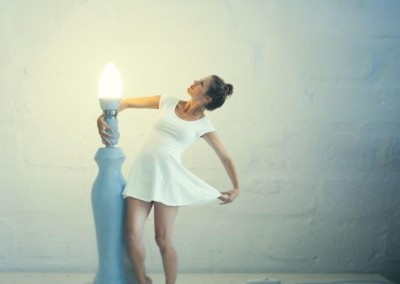 surreal miniature me and a lamp for 365 personal fine art project by abigail k photography
