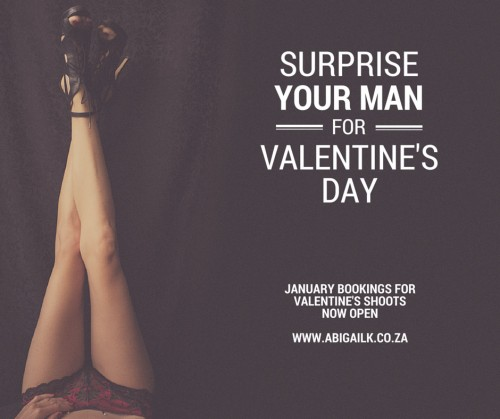 Surprise him for valentines day with a sexy portrait photo shoot cape town portrait photographer Abigail K