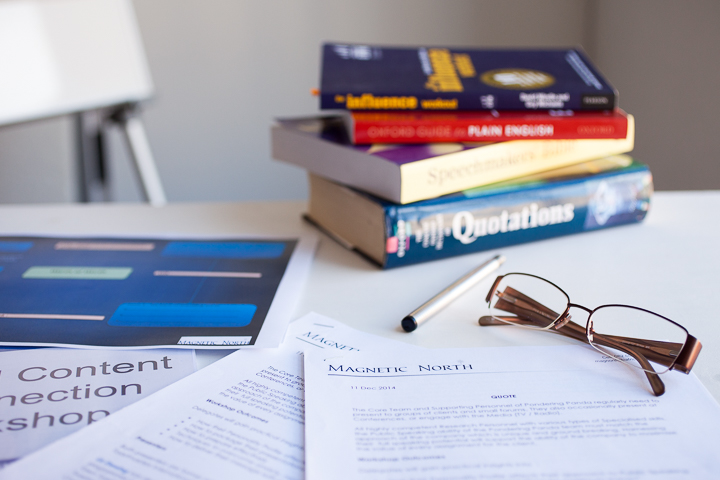 Personal Branding Desk Top with books, coffee and reading glasses Photography by Abigail K