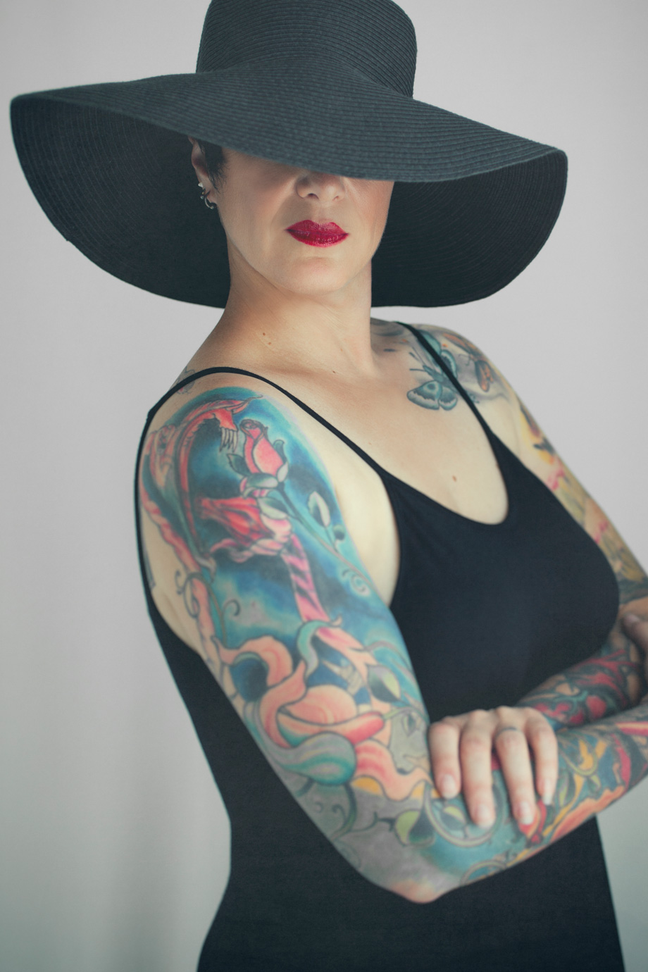 woman full body tattoos portrait photography
