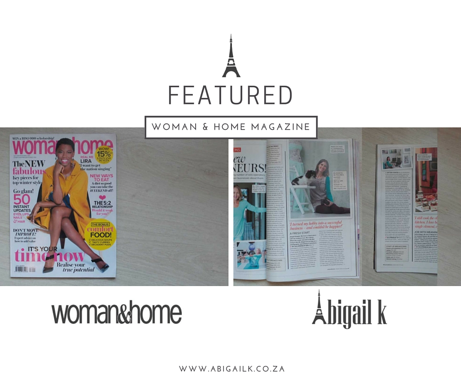 featured: Abigail K Photography in Woman and Home magazine south africa