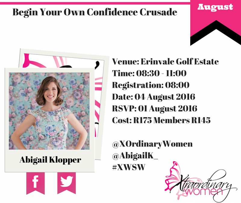 Upcoming Talk | Begin Your Own Confidence Crusade | Xtraordinary Women Network
