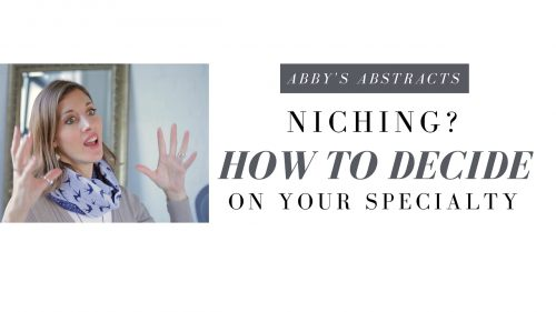 Niching? How to Decide on your specialty