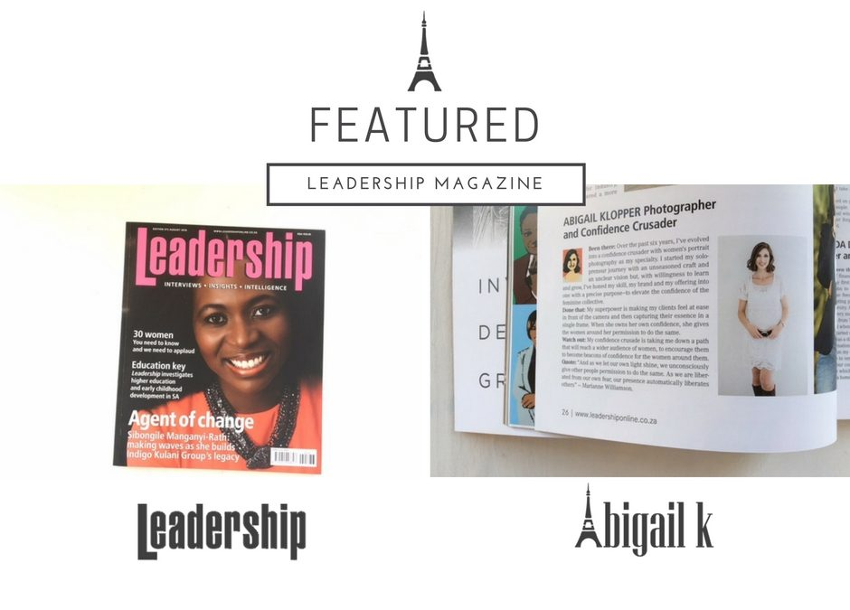 Featured: Abigail K in Leadership Magazine