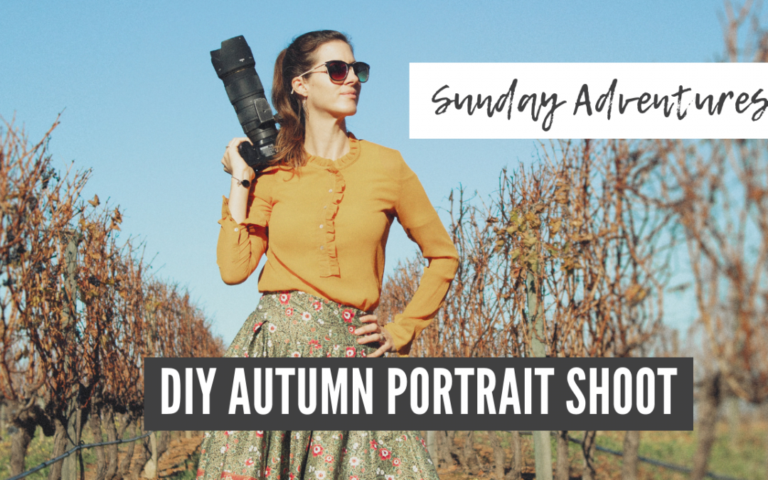 DIY Autumn/Fall Portrait Photo Shoot Sunday Adventures