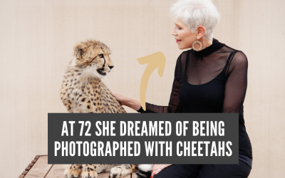 72 Year Old Woman's dream photoshoot with Cheetahs