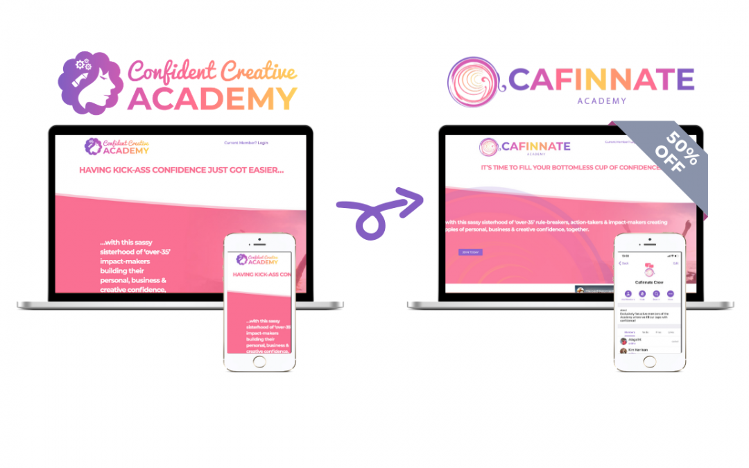 Confident Creative Academy Is Now Cafinnate Academy