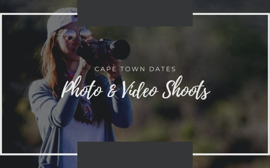 I'm Visiting Cape Town! October 2020 Photo Shoot Dates