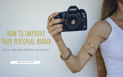 How to improve your personal brand | Hint: It's never been easier!
